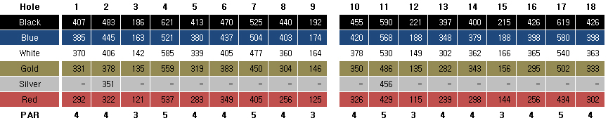 Champion  Course Score Card